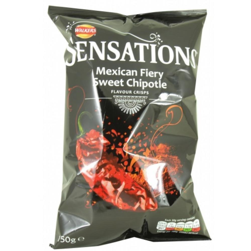 Walkers Sensations Mexican Fiery Sweet Chipotle Flavour Crisps 150g