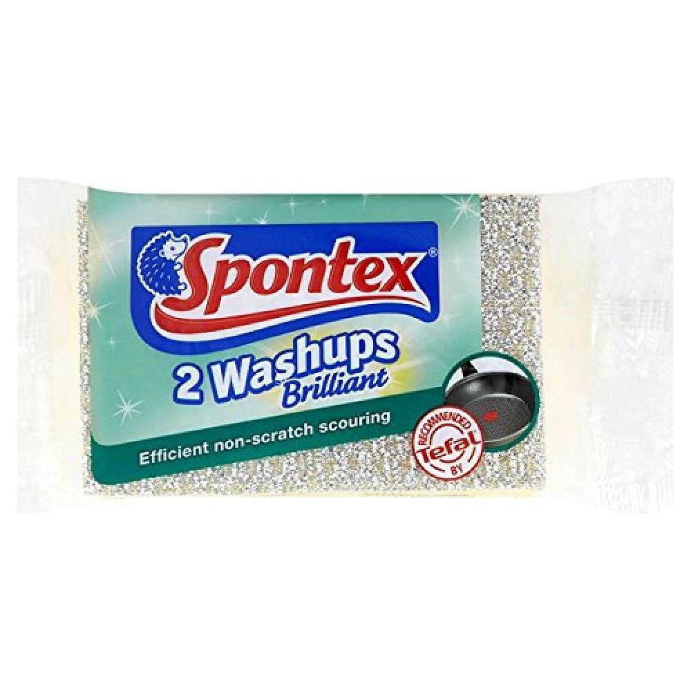 Spontex Washups Brilliant Sponge Scourer
