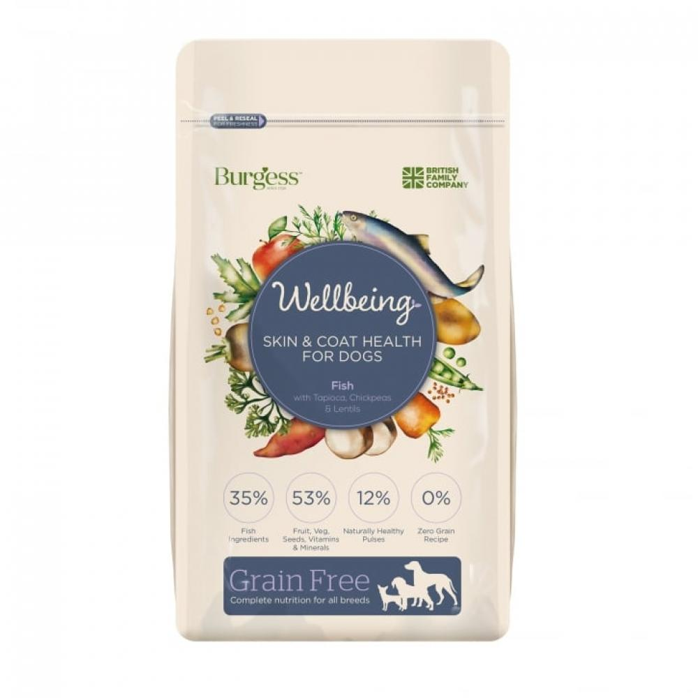 Wellbeing Fish Grain Free Dog Food Skin and Coat 1.5kg