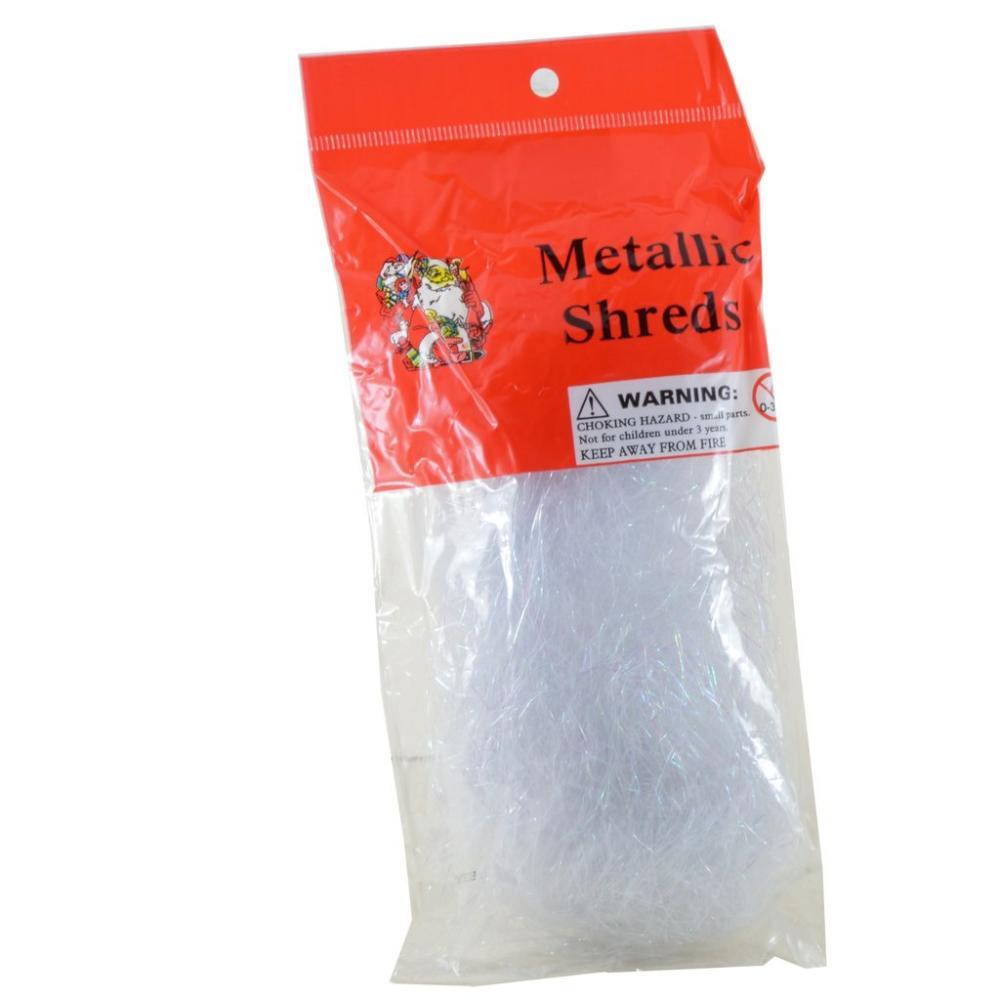 Christmas White Pearlised Xmas Shreds