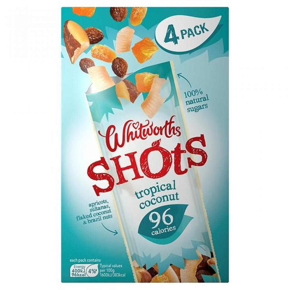 Whitworths Shots Tropical Coconut 25g x 4