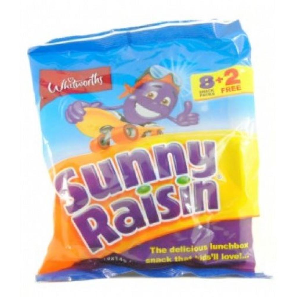 Whitworths Sunny Raisins 10 Snack Packs 140g