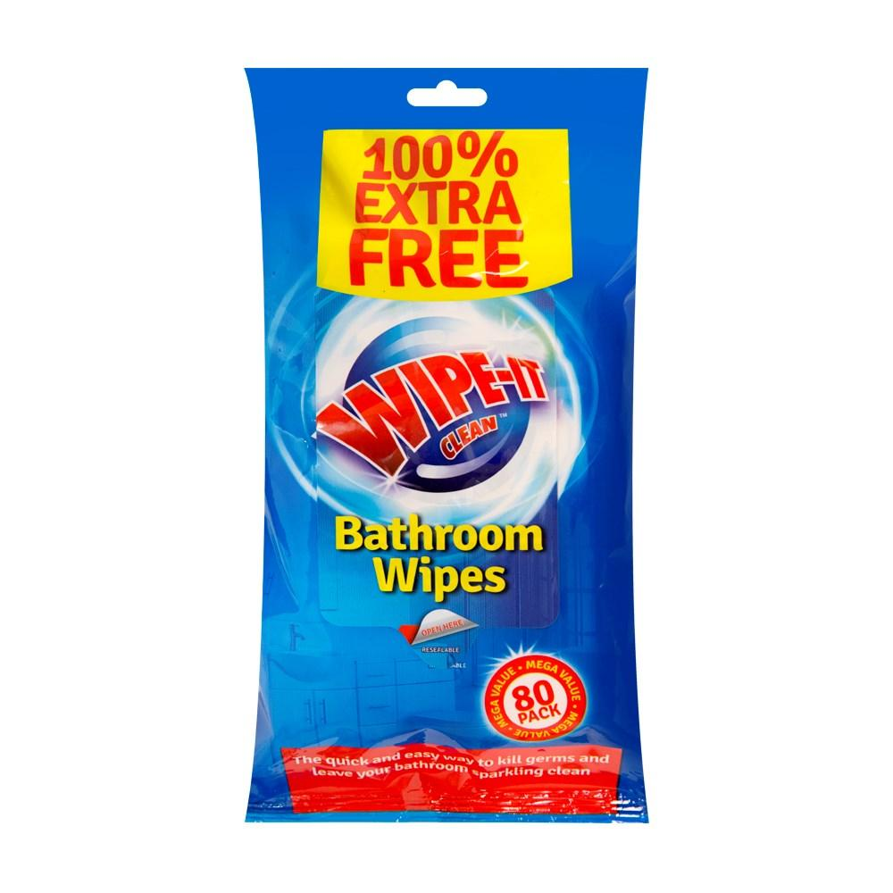 Wipe It Clean Bathroom Wipes 80 wipes