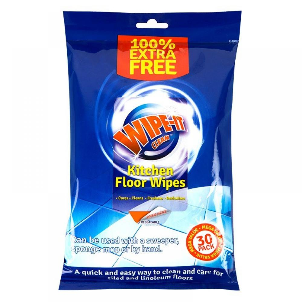 Wipe It Clean Kitchen Floor Wet Wipes 30 wipes