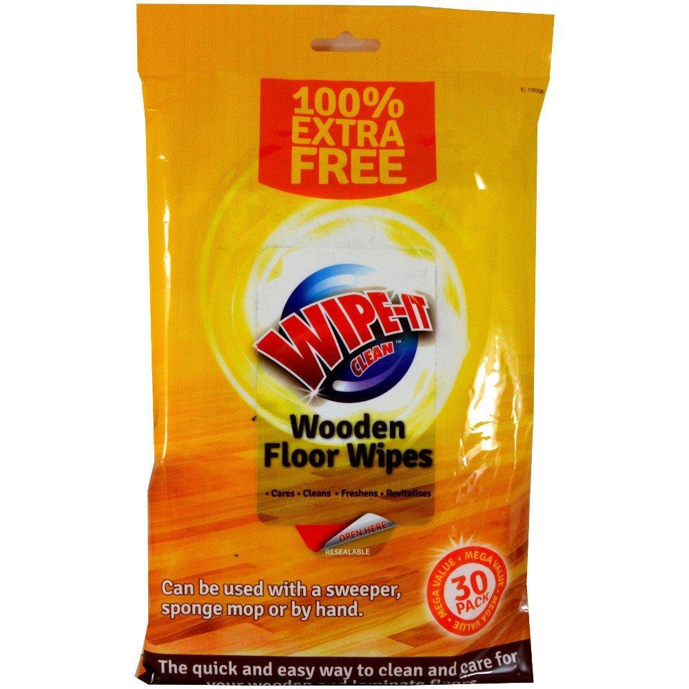 Wipe It Clean Wooden Floor Wipes - 30 pack