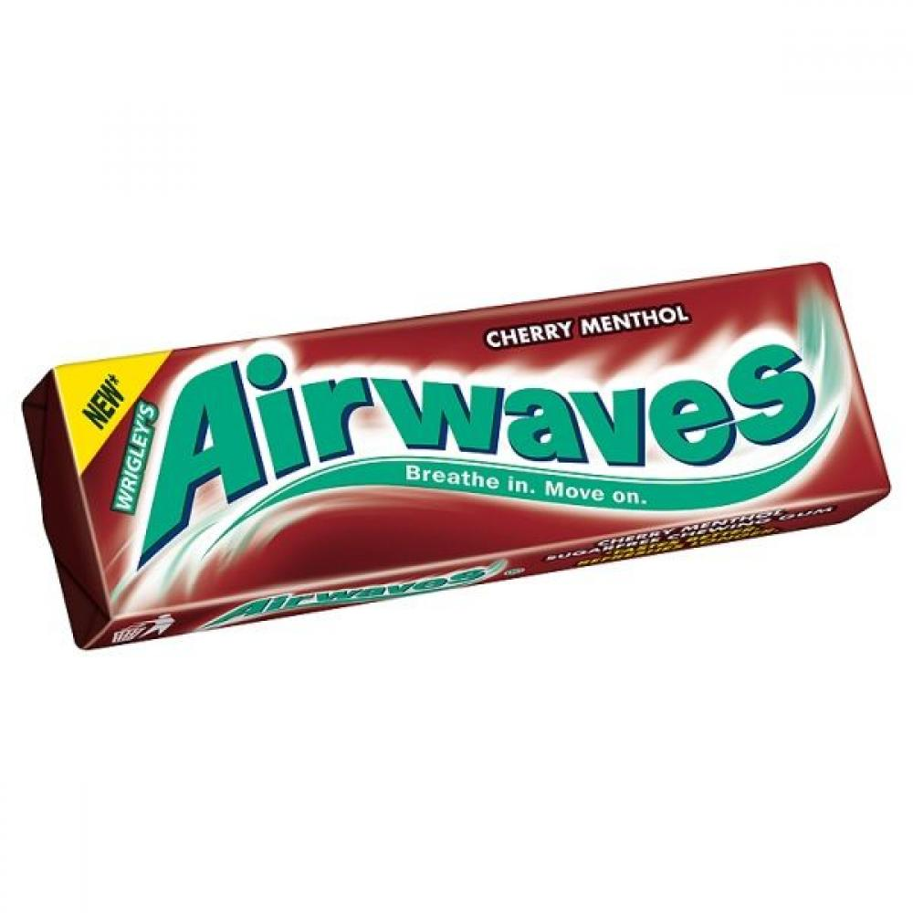 Wrigleys Airwaves Cherry Menthol Flavour Sugarfree Chewing Gum 15 g
