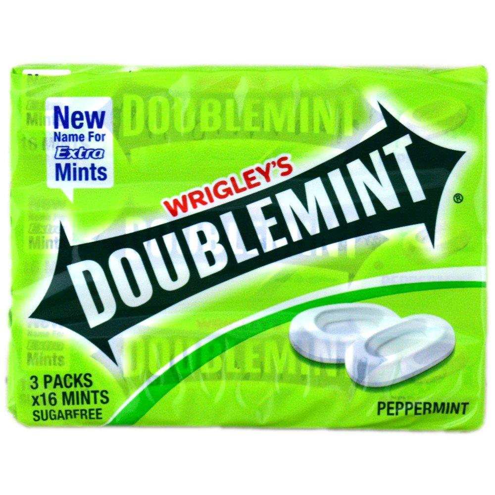 Wrigleys Doublemint Peppermint 16 mints x 3