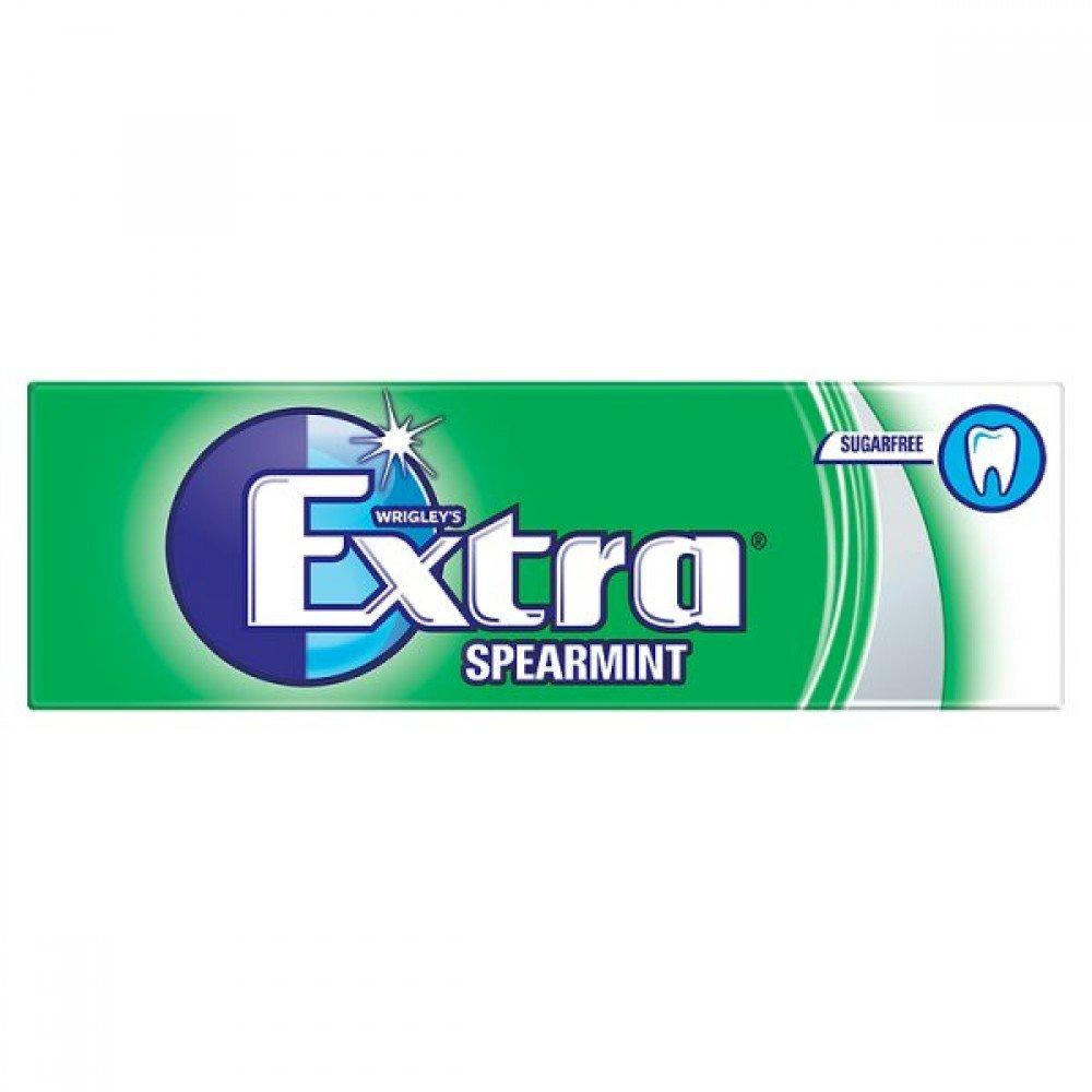 Wrigleys Extra Spearmint Sugarfree Chewing Gum 10 Pieces 14g