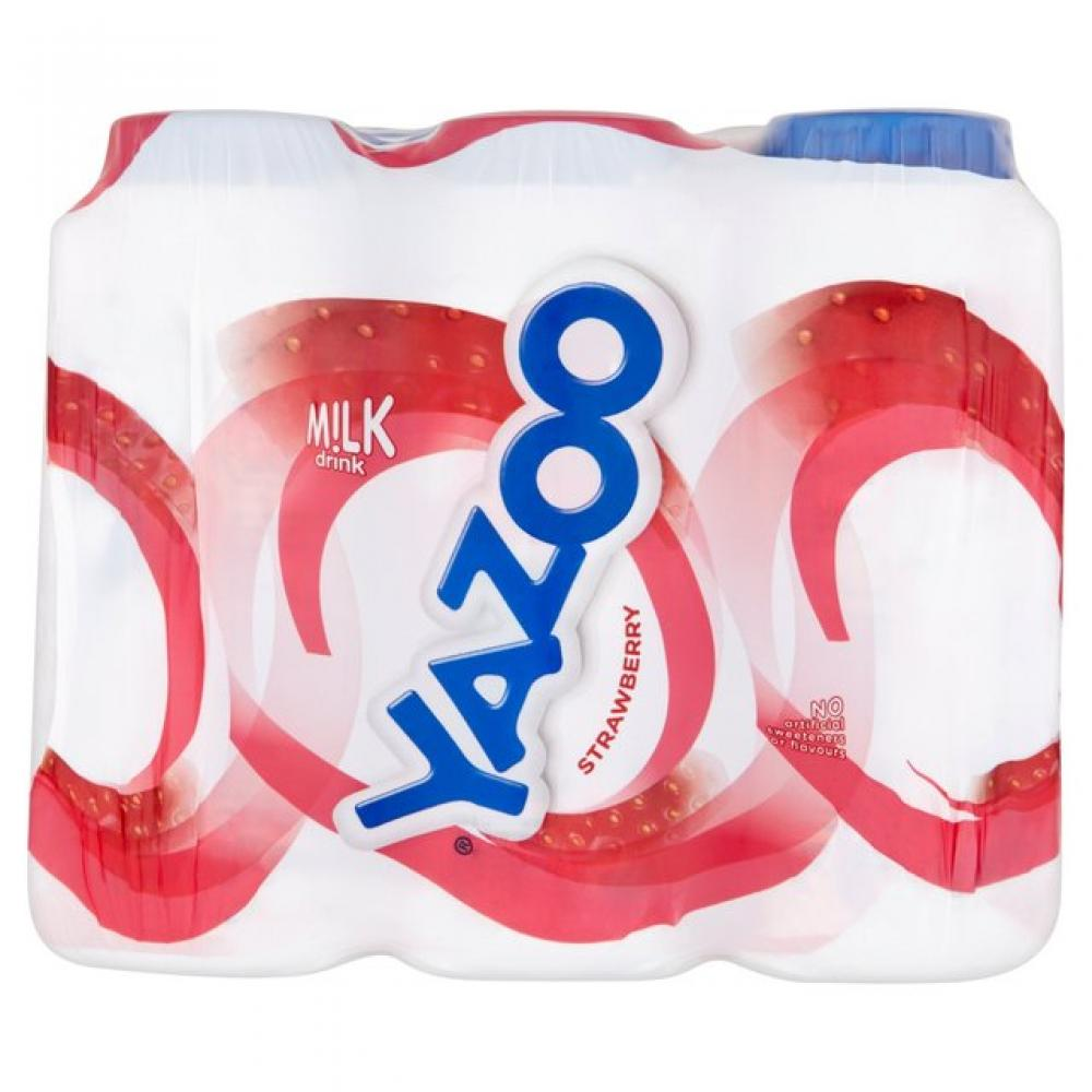 Yazoo Strawberry Flavour Milkshake 200ml x 6