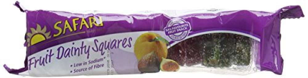 Safari Fruit Dainty Squares 250 g