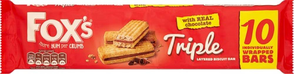 Foxs Triple Layered Biscuit 10 pack