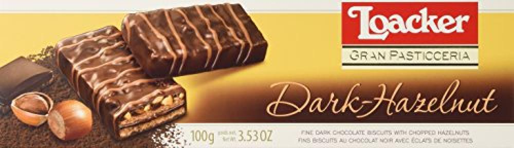 Loacker Gran Pasticceria Dark Hazelnut Chocolate Biscuits 100 g