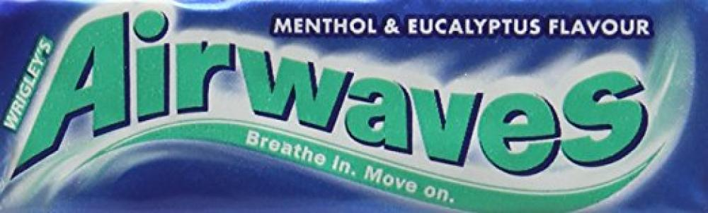 Wrigleys Airwaves Menthol And Eucalyptus Gum 14g 10 pieces