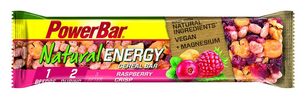 Power Bar Natural Energy Raspberry Crisp Flavour Cereal Bar 40g