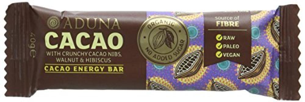 Aduna Cacao Energy Bar with Crunchy Cacao Nibs Walnut and Hibiscus 40g
