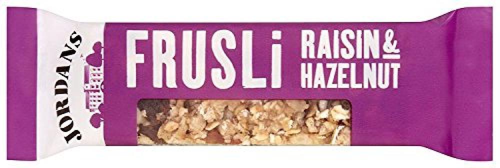 Jordans Frusili Raisin and Hazelnut Bar 30 g