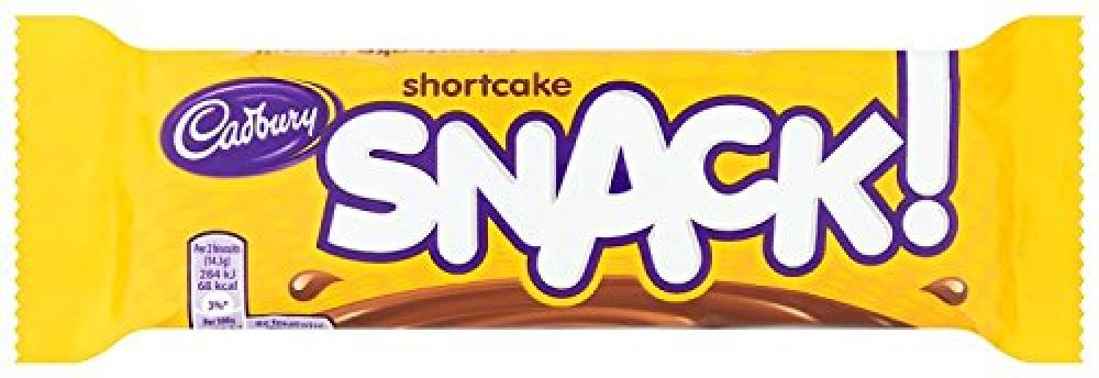 Cadbury Snack Chocolate Covered Shortcake Biscuit 43g