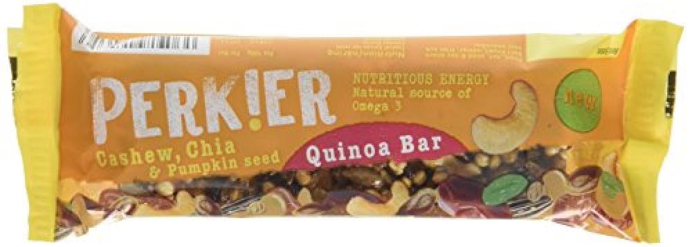 Perkier Quinoa Bar CashewChia and Pumpkin Seed 35g