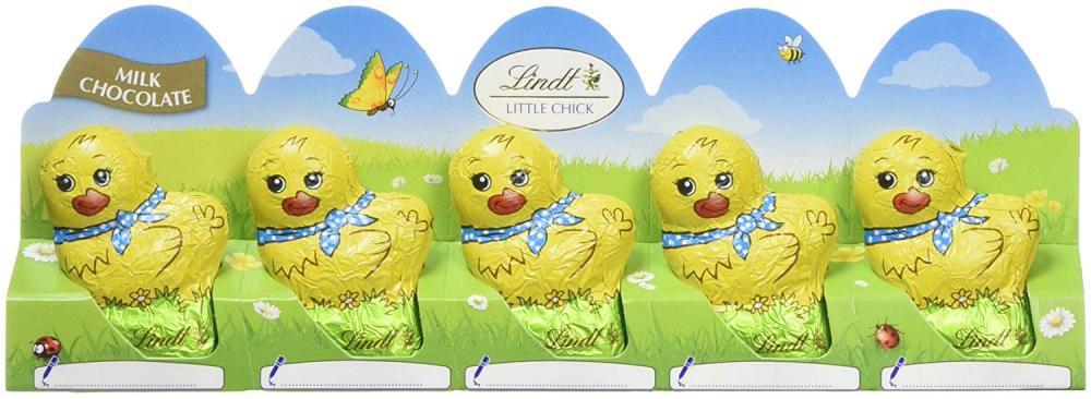 Lindt 5 Easter Chicks Milk Chocolate 50g