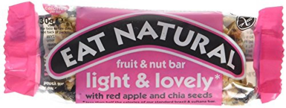 Eat Natural Light and Lovely Red Apple and Chia Seeds Bar 30g