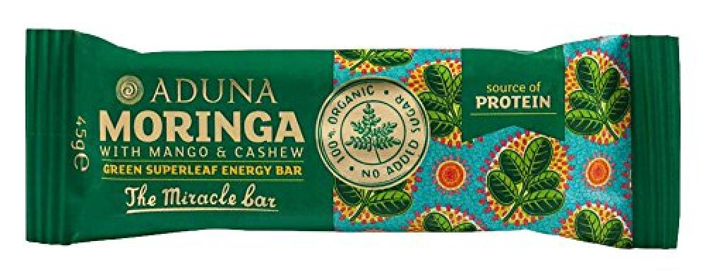 Aduna Moringa with Mango and Cashew Green Superleaf Energy Bar 45g