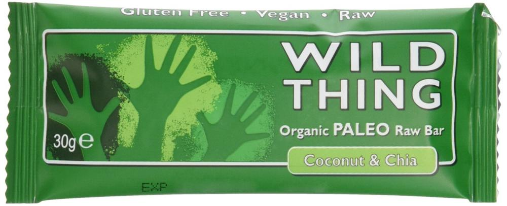 Wild Thing Organic Raw Coconut and Chiapaleo Bar 30g