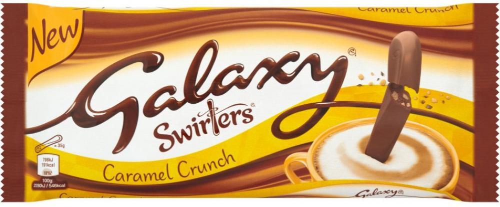 Galaxy Swirlers Caramel Crunch 175g