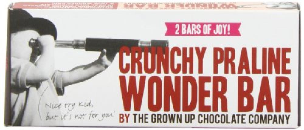 The Grown Up Chocolate Company Crunchy Praline Wonder Double Bar 65g