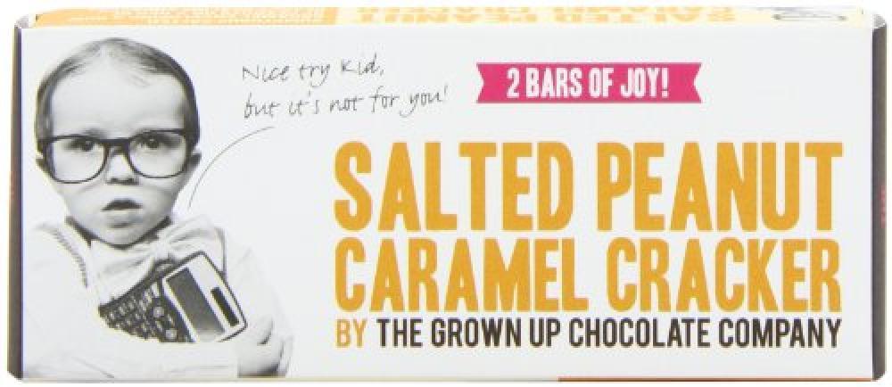 Grown Up Superb Salted Peanut Caramel Bar 70g