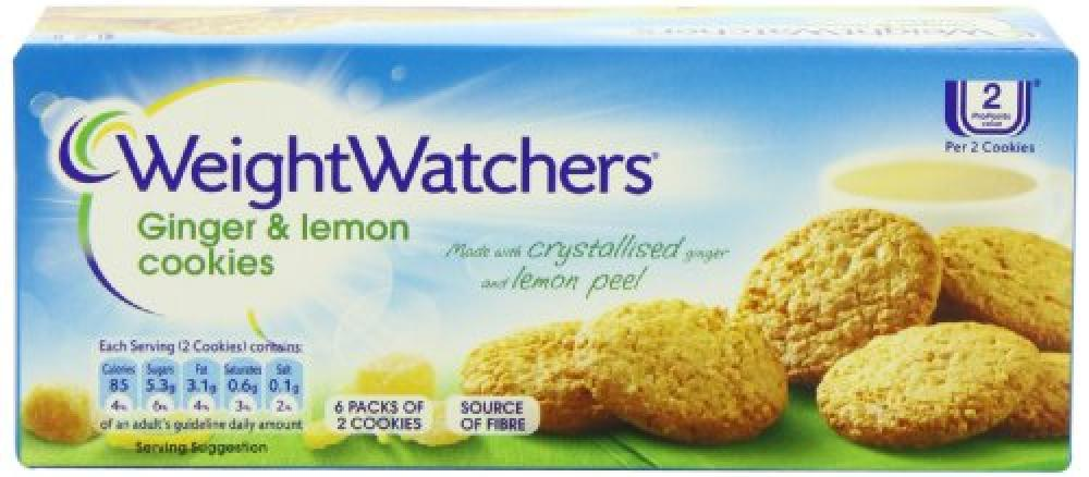 Weight Watchers Ginger and Lemon Cookies 114 g
