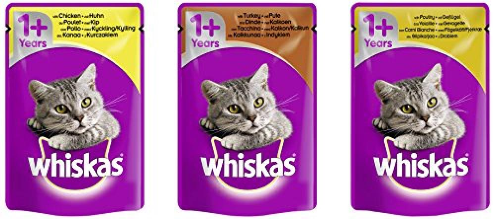 Whiskas Lucky Dip Wet Cat Food Pouch in Gravy for 1 Adult 100g pouch