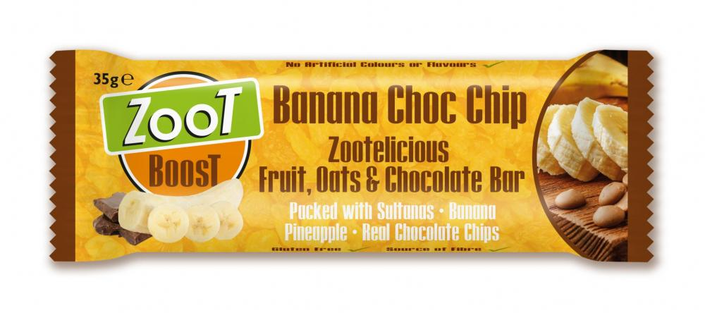 Zoot Boost Banana Choc Chip Snack Bar 35g