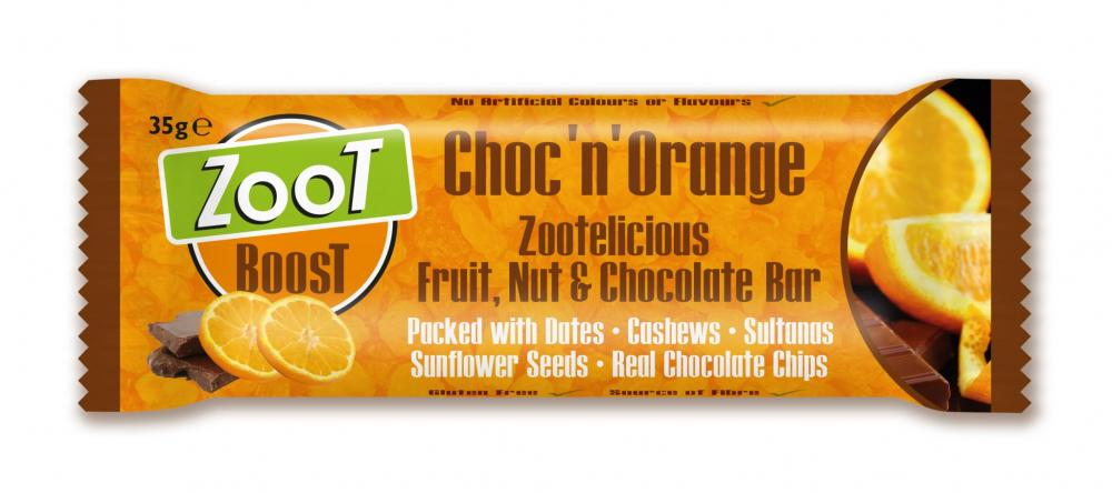 Zoot Boost Choc N Orange Snack Bar 35g