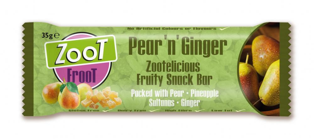 Zoot Froot Pear N Ginger Snack Bar 35g