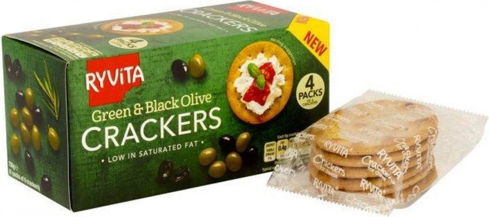 Ryvita Green and Black Olive Crackers 150g