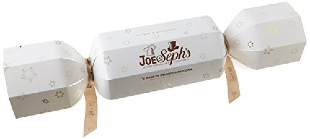 Joe and Sephs Popcorn Giant Christmas Cracker Salted Caramel Popcorn with 6 Hats and Jokes