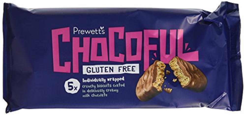 Prewetts Gluten Free Chocoful Biscuit Bars 100g
