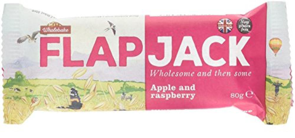 Wholebake Flapjack Apple and Raspberry 80g