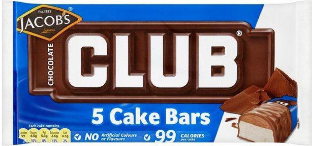 Jacobs Club Chocolate 5 Cake Bars