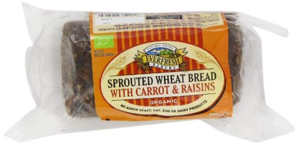 Everfresh Sunnyvale Sprouted Organic Wheat Carrot and Raisin 400 g