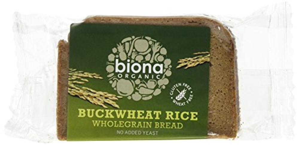 Biona Organic Buckwheat Rice Wholegrain Bread 250 g