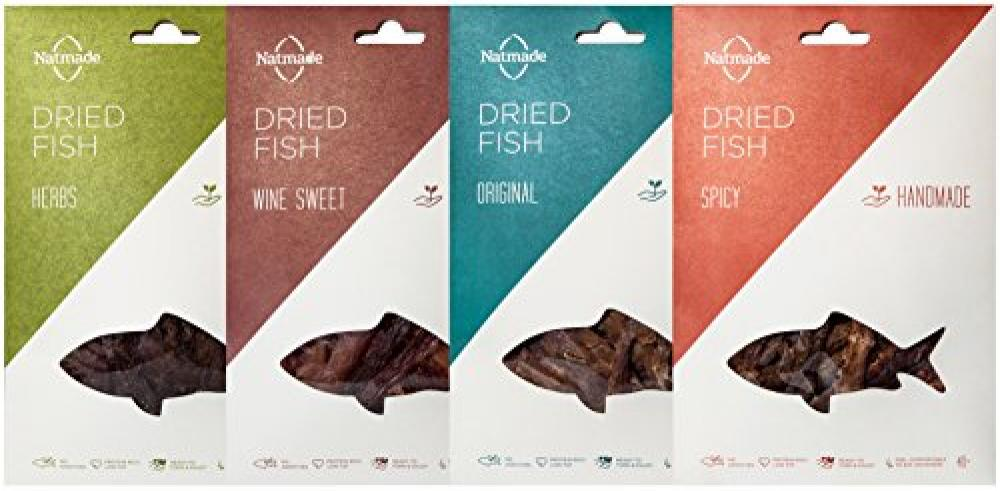 Natmade Assorted pack of Gourmet Dried Fish (Pack of 4 x 40g)