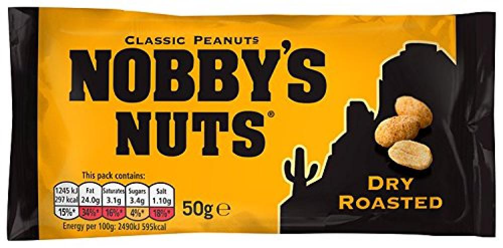 Nobbys Nuts Dry Roasted Peanuts 50 g