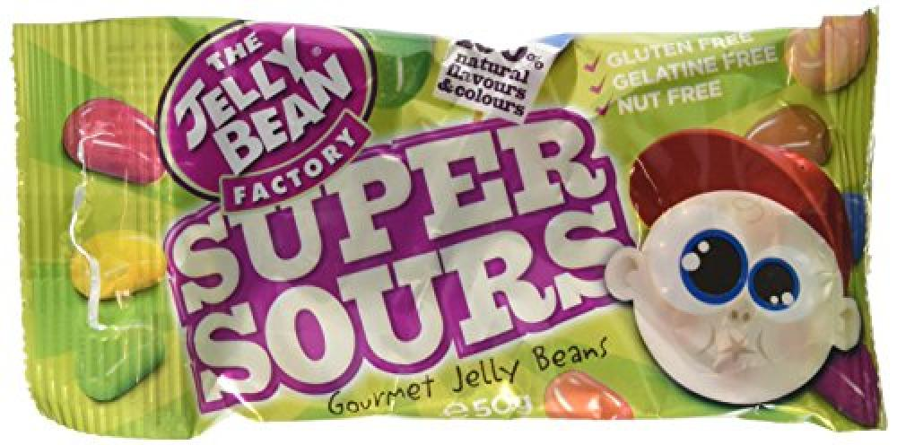 The Jelly Bean Factory Bag of Super Sour Jelly Beans 50 g