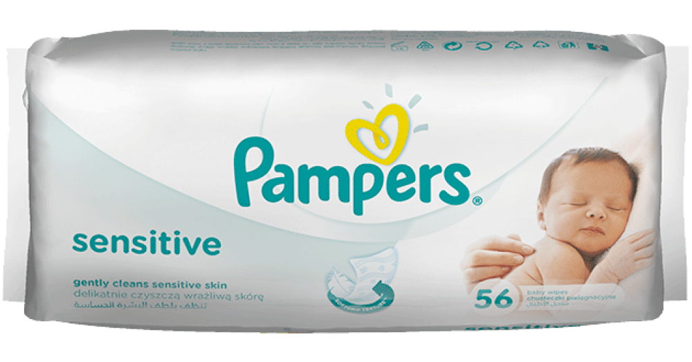 Pampers Sensitive 56 Wipes