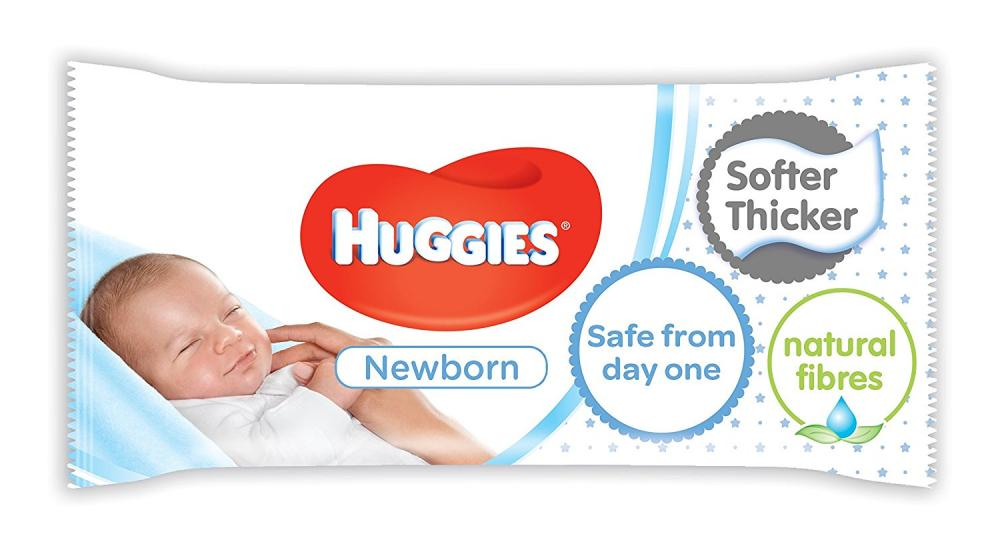 Huggies Newborn Baby Wipes Pack of 56