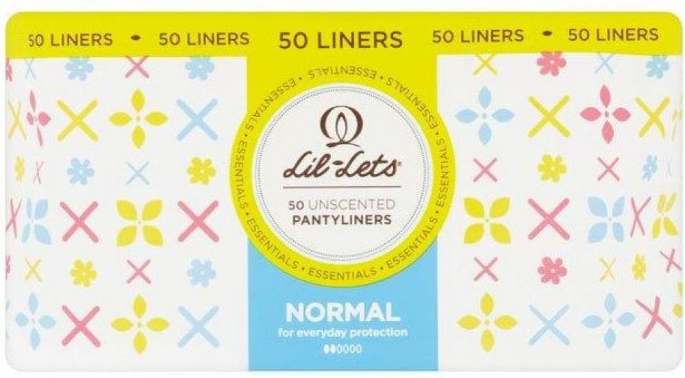 Lil Lets 50 Unscented Pantyliners Normal