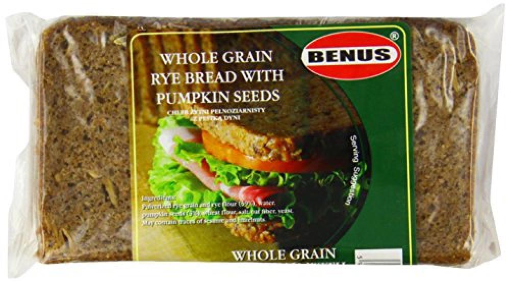Benus Wholegrain Rye Bread with Pumpkin Seeds 500g