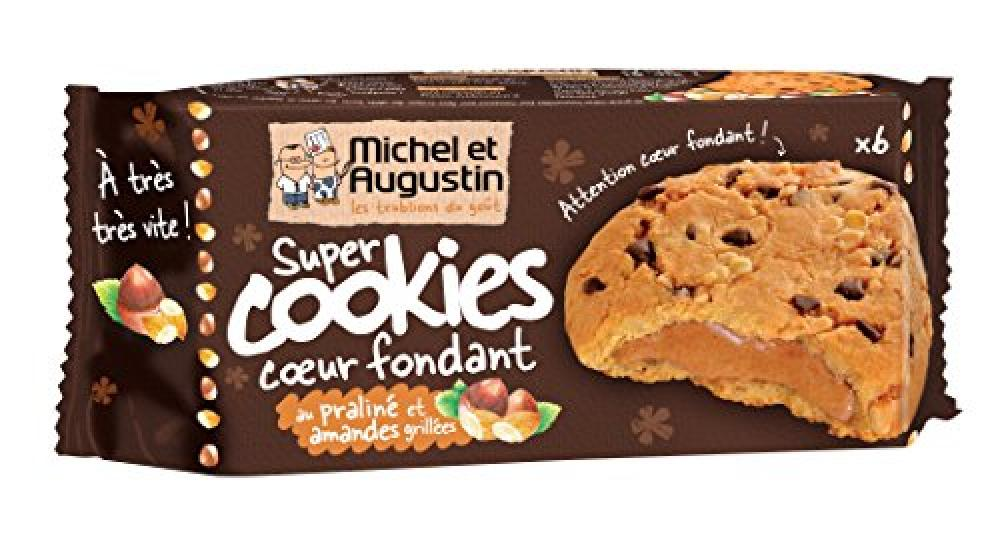 Michel Et Augustin Super Cookies with Melty Middle Praline and Toasted Almonds 172g