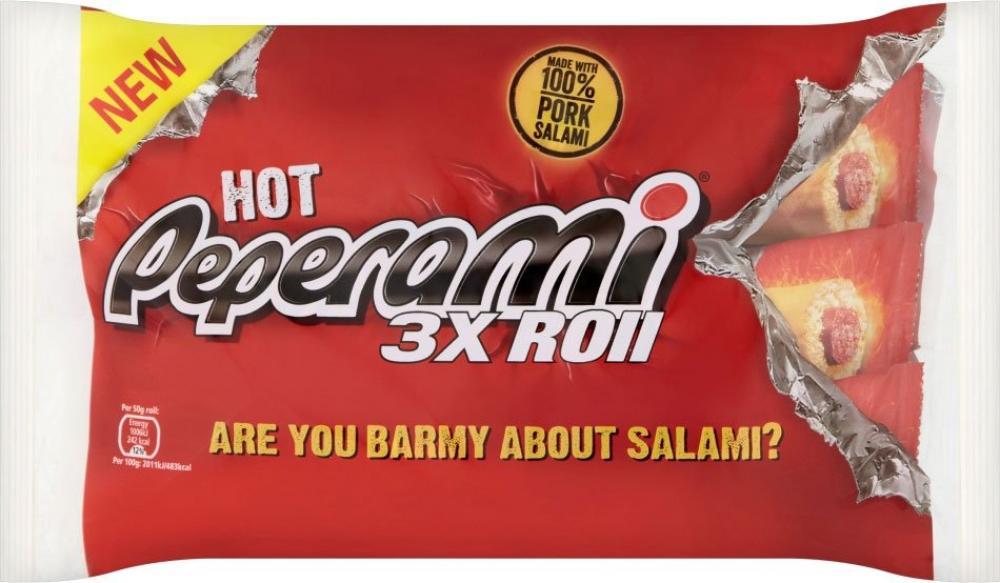 Peperami Hot Rolls 50g x 3
